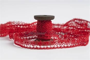 Тесьма вязанная ажурная, 11 мм